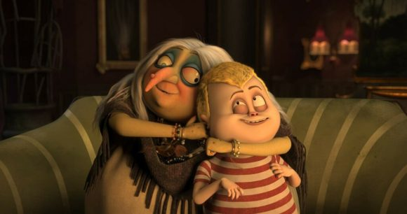 nenek dan Pugsley dalam film The Addams Family
