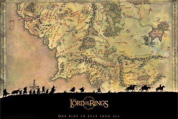 peta Middle Earth dalam Lord of the Rings