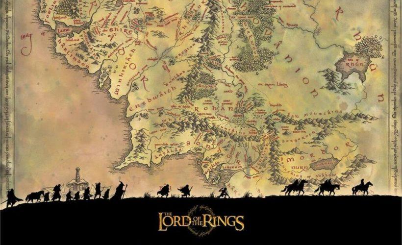 peta Middle Earth dalam Lord of the Rings