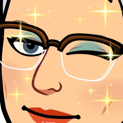 close-up Marja, ze knipoogt