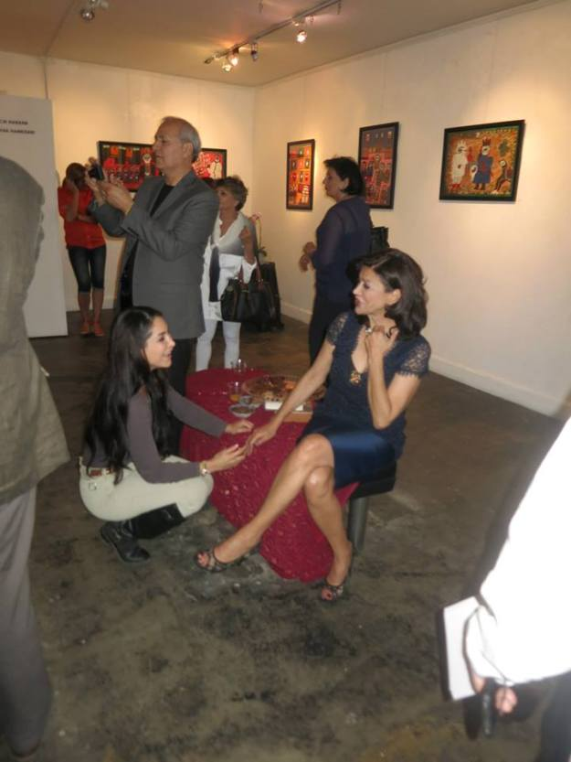 Performance Art at Seyhoun Gallery with Shohreh Aghdashloo and Saye Yabandeh
