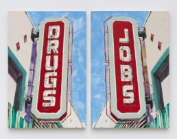 "Katie Herzog and Andrew Choate Title: DRUGS/JOBS Medium: Archival Ink Jet Print Date of work: 2016 Size: 24"" x 18 7/8"" Retail value: $300 Winning Bid: $100.00"