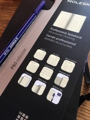 Moleskine werkboek die van zichzelf al bullet proof is.