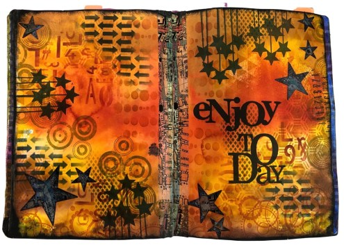 Art journal with washi tapes and Sizzix dies (Marjie Kemper)
