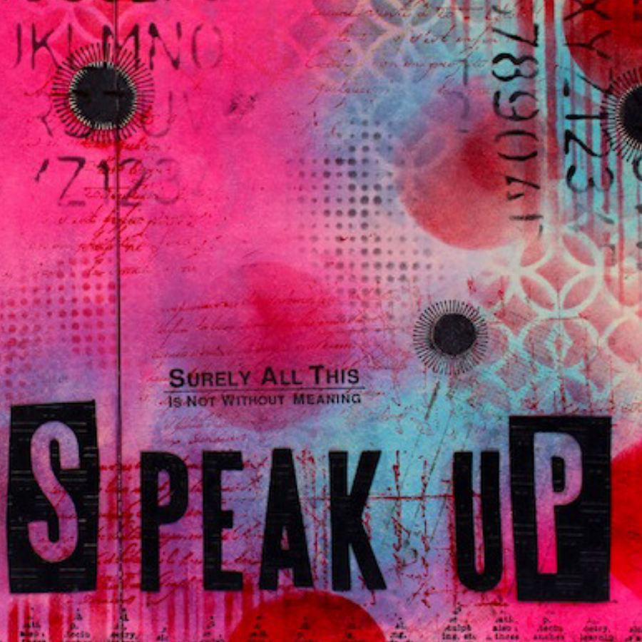 Speak Up Art Journaling Spread (Marjie Kemper)