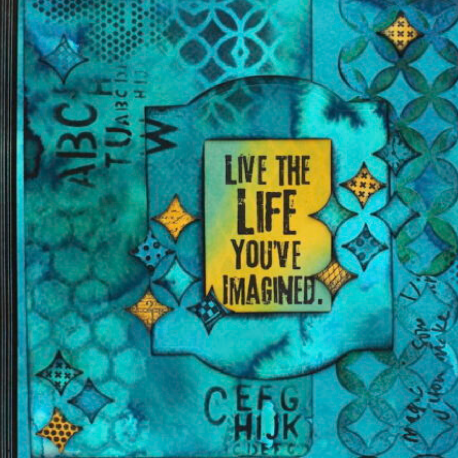 Art journaling with Tim Holtz -Sizzix dies (Marjie Kemper)