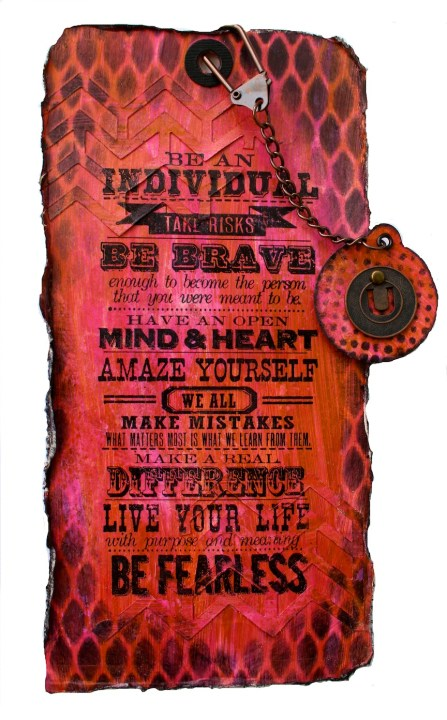 Be an Individual - Tag art with Tim Holtz Sizzix dies (Marjie Kemper)