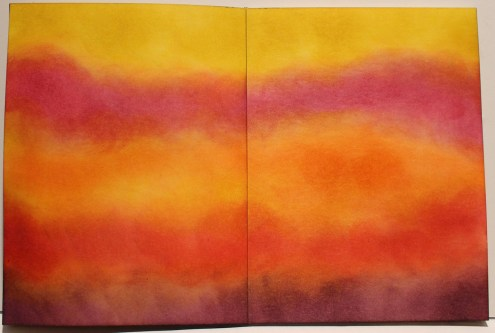 Marjie Kemper art journal - Distress Inks - At the End of the Day 2