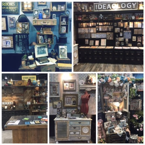 Tim Holtz booths at CHA 2016