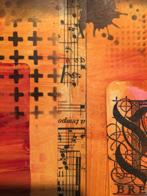 art journal tutorial with ATCs and stencils (Marjie Kemper)