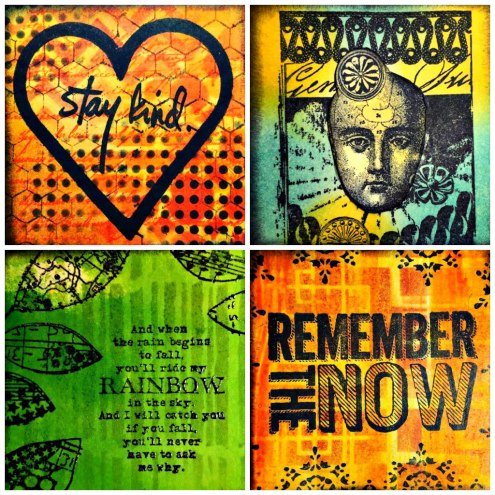 Marjie Kemper Designs #100daysproject - mixed media art journal techniques - Days 89-92