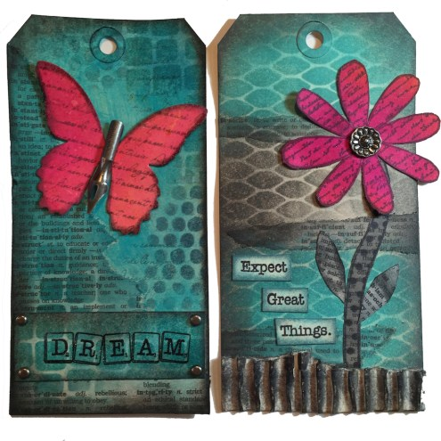 Tag art for Xyron - tutorial with free download - Marjie Kemper