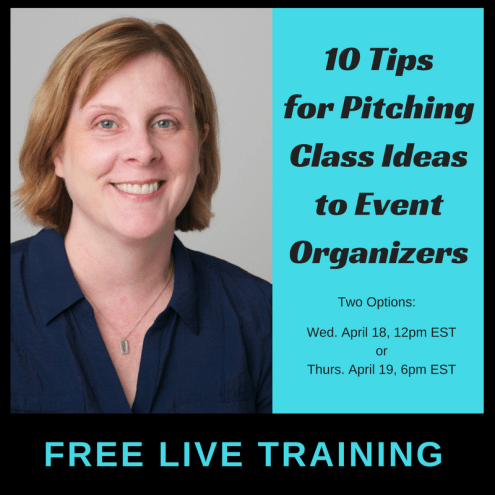 Pitching Class Ideas to Event Organizers
