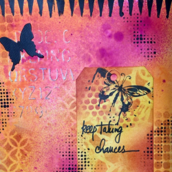 Art journaling with dylusions ink sprays