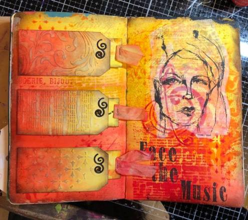 Art journal by Kim Young - Student Work in Wanderlust 2019