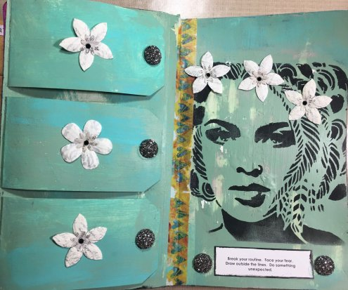 Art journal by Tina Webb - Student Work in Wanderlust 2019