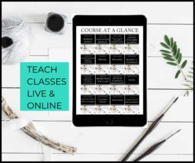 teach classes live and online