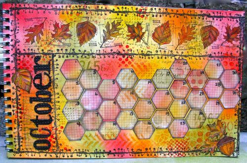 Marjie Kemper 2012 calendar - The Kathryn Wheel project