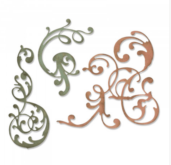 sizzix adorned flurish embellishment dies