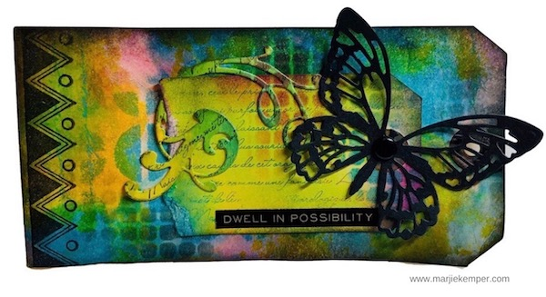 dwell in possibility mixed media tag image