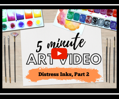 Want to blend Distress Ink colors smoothly and easily? I show you how in this 5-minute video tutorial.