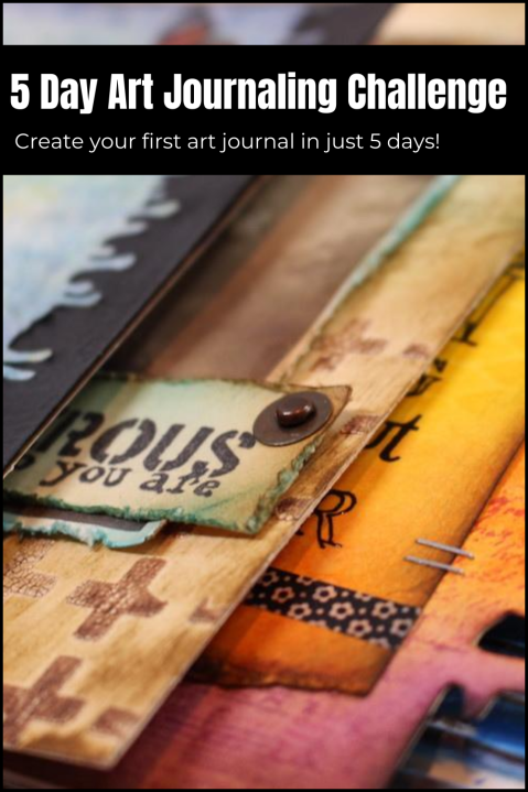 Join The 5 Day Art Journaling challenge hosted by Marjie Kemper and create your first art journal in just 5 days! This live art journaling event is packed with loads of mixed media tips and techniques, and replay videos will be available afterward. (Marjie Kemper)