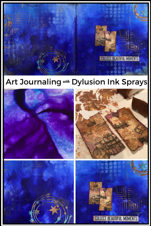 Art Journaling with Dylusions Ink Sprays (Marjie Kemper)