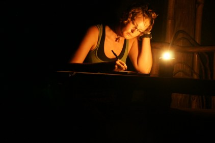 Journal Writing by Candlelight