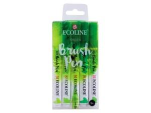 Ecoline brushpenset groen