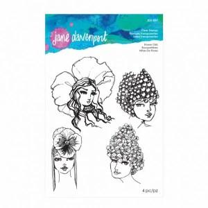 Jane Davenport Flower Girls clear stamps