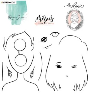 karin joan clear stamp melanie missees collection nr 5