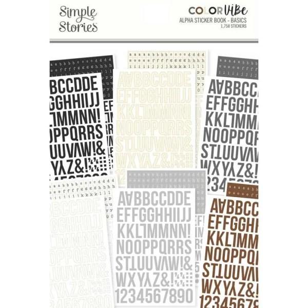 Sticker boek Simple Stories basics