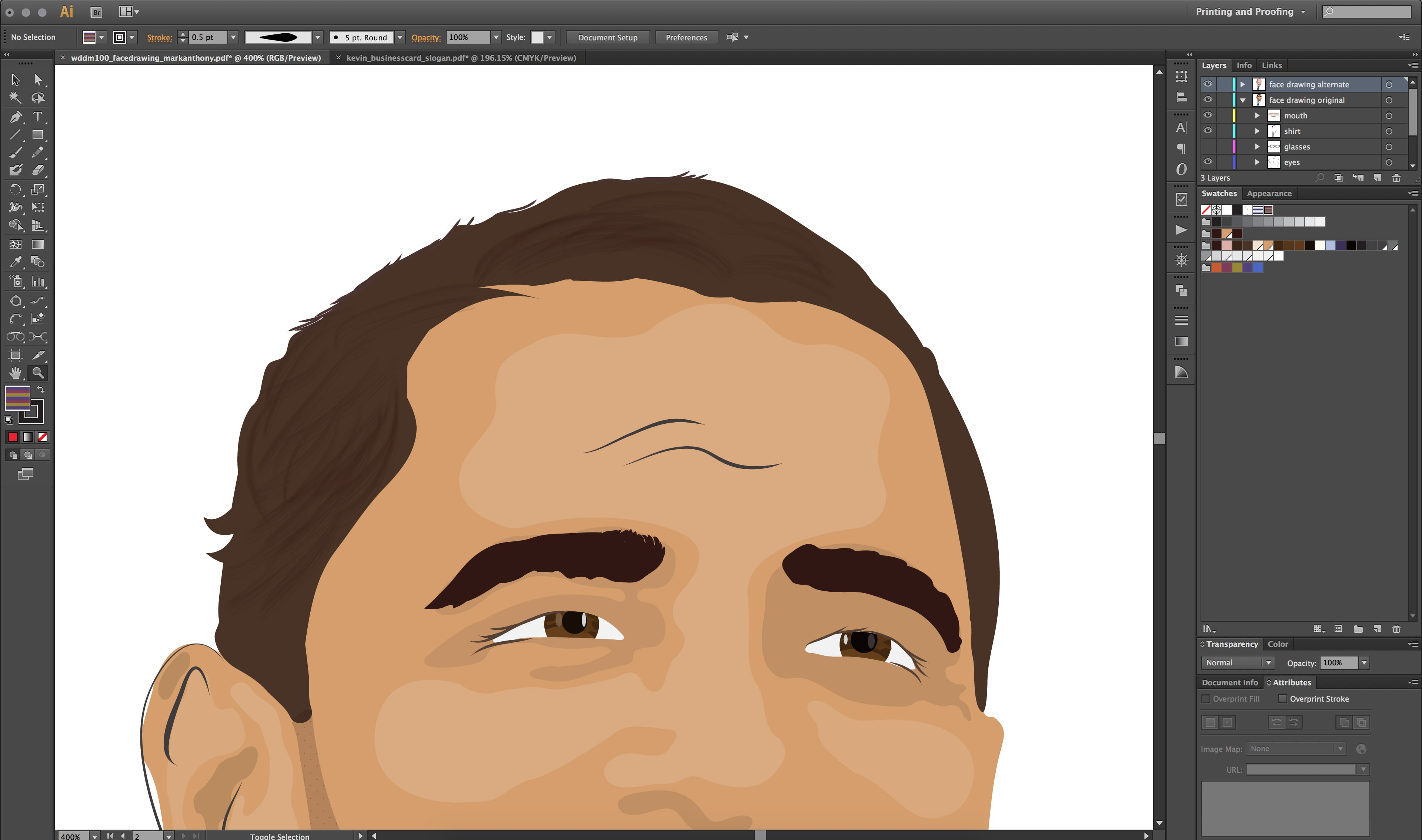 Creating A Vector Hair Brush in Illustrator - mark-anthony ca
