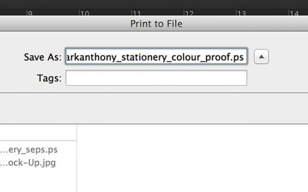 colour proof postscript