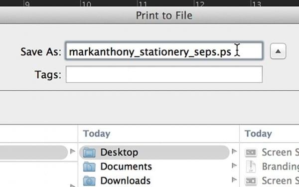 save separations postscript file.