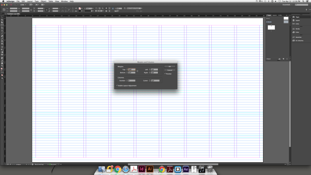 Modular Grid InDesign Adjust
