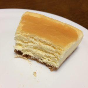 ニューヨークチーズケーキ断面