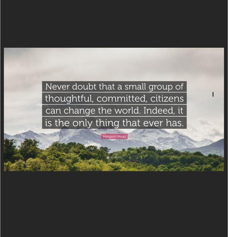 Never doubt...Margaret Mead