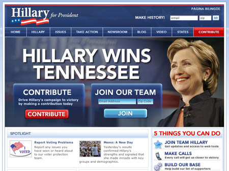 Hillary Clinton Website