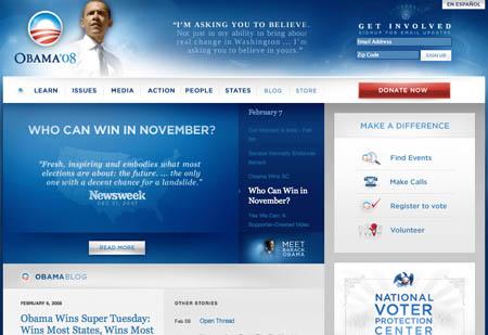 Barack Obama website