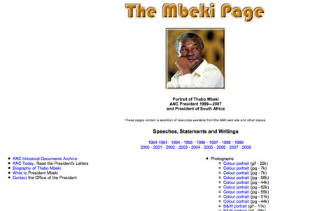 Thabo Mbeki Website