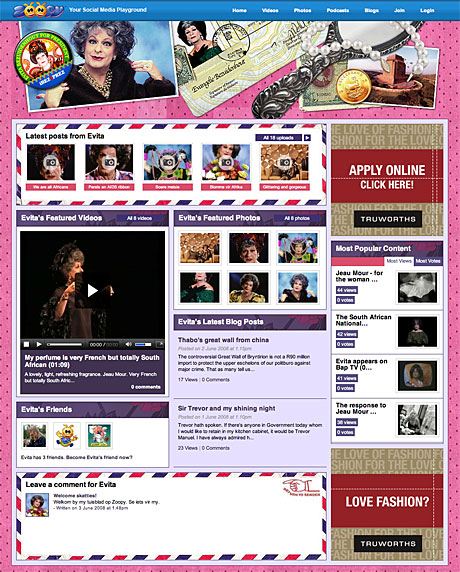 Evita Bezuidenhout's Zoopy Page