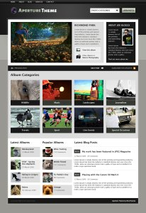 The Aperture home page