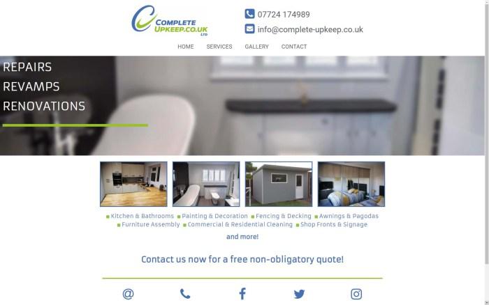 Web Design for Complete Upkeep Ltd