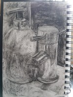 Shadow and Reflected Light - Composition 2 - Charcoal