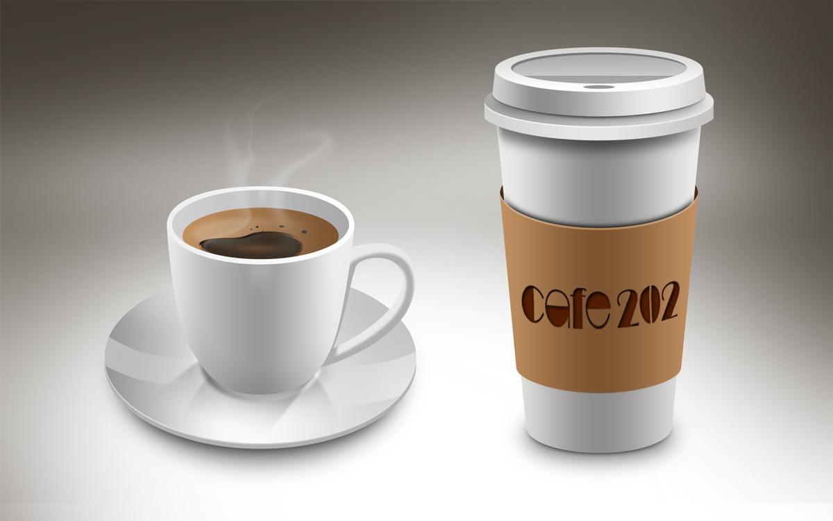 モックアップの完成した画像coffee-cups-01