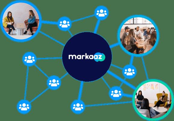 Markaaz networking illustration