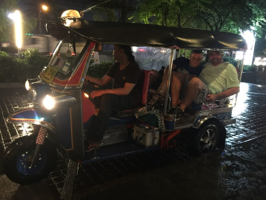Tuk tuk - riding in a tuk tuk - Bangkok - Thailand - Patpong Night Market