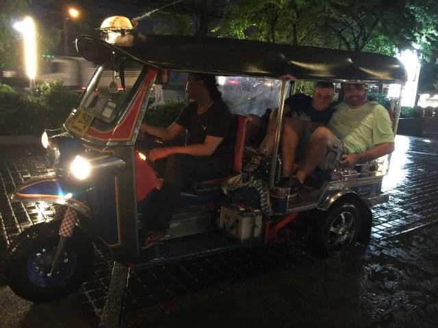 Tuk tuk - riding in a tuk tuk - Bangkok - Thailand - Patpong Night Market