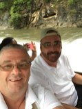Chuck and I on the long boat